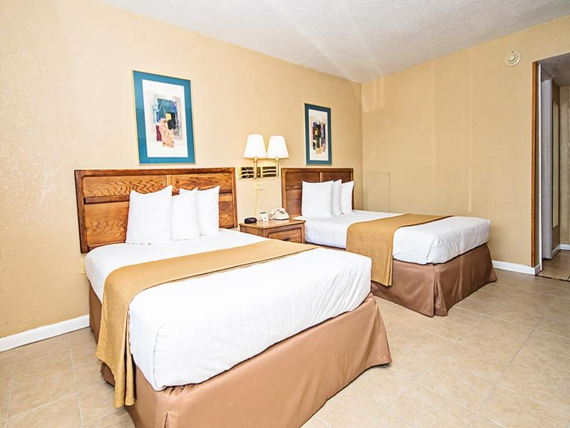 Double Room with Two Double Beds and Pool View - Non-Smoking