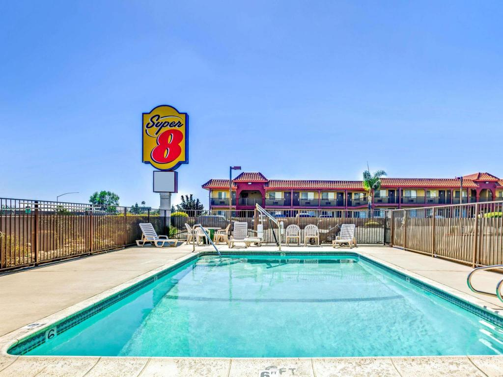 Swimming pool [outdoor] Super 8 by Wyndham Upland Ontario CA