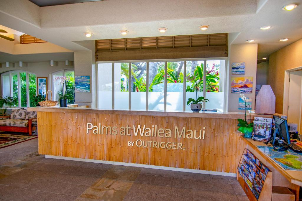 Lobby Palms at Wailea Maui by Outrigger