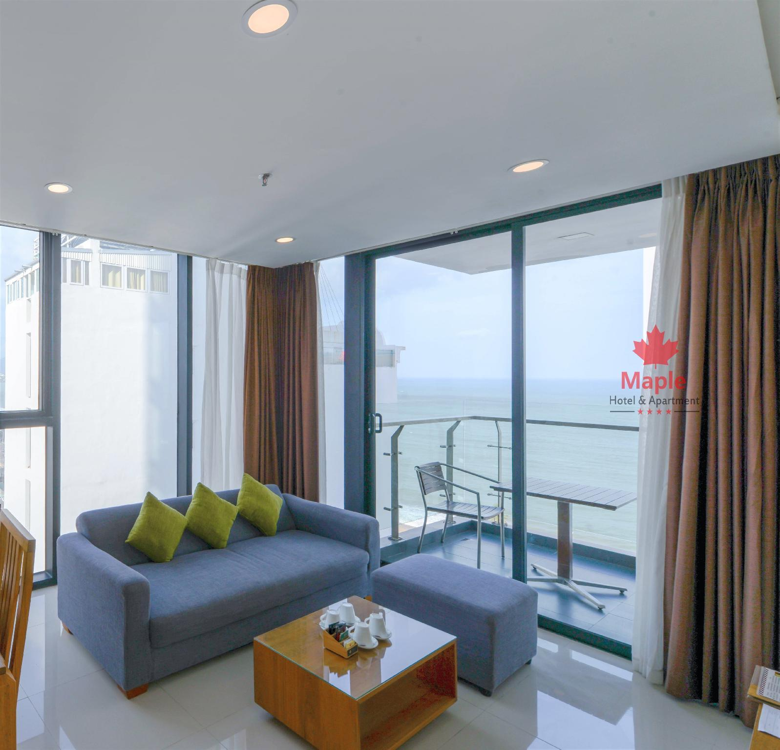 2-Bedroom Sea View Apartment with Balcony
