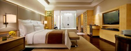 Deluxe Room, Guest room, 1 King or 2 Double, City view - Room plan JW Marriott Hotel Chandigarh