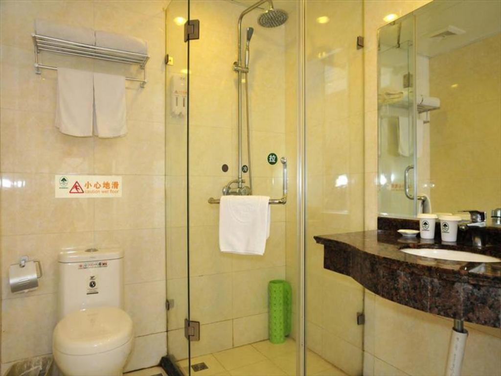 Bilik Mandi GreenTree Inn Shanghai Dongming Road Subway Station Hotel