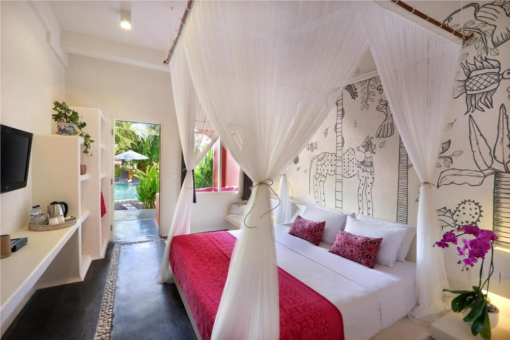 Grande Room - Adults Only - Bed Pinkcoco Bali Hotel - Adults Only