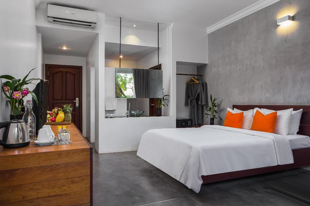Deluxe Double Room with Balcony - Room plan eOcambo Residence