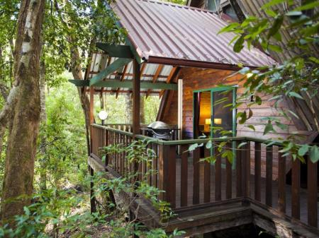 شرفة/ تراس ذا ماوسيس هاوس راينفوريست ريتريت (The Mouses House Rainforest Retreat)