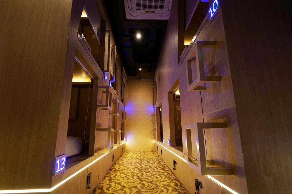 Interior view Cube Boutique Capsule Hotel @ Kampong Glam
