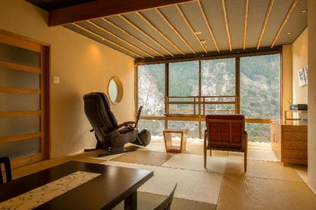 Open Air Spa Deluxe Japanese Style Room - Room plan Wanoyado Hotel Iya Onsen Natural Hot Spring