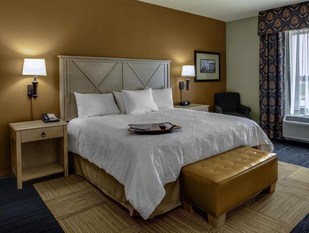 King Size -vuode - savuton - Hotellihuone Hampton Inn and Suites Dodge City