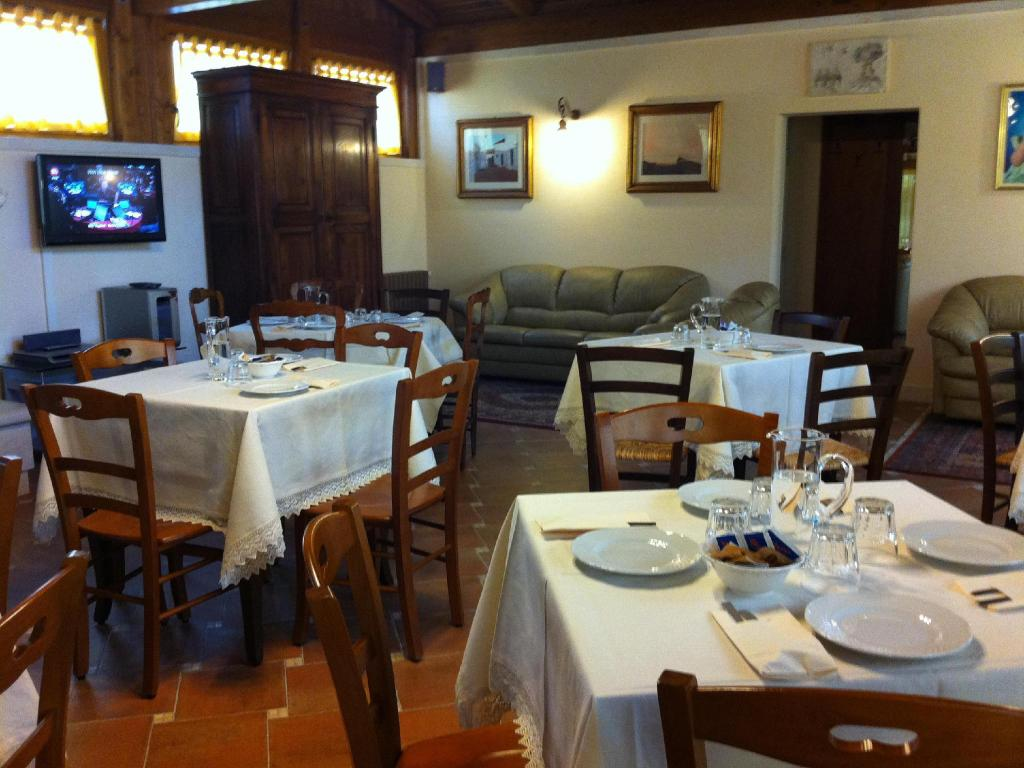 Hotellet indefra Borgo Ritella