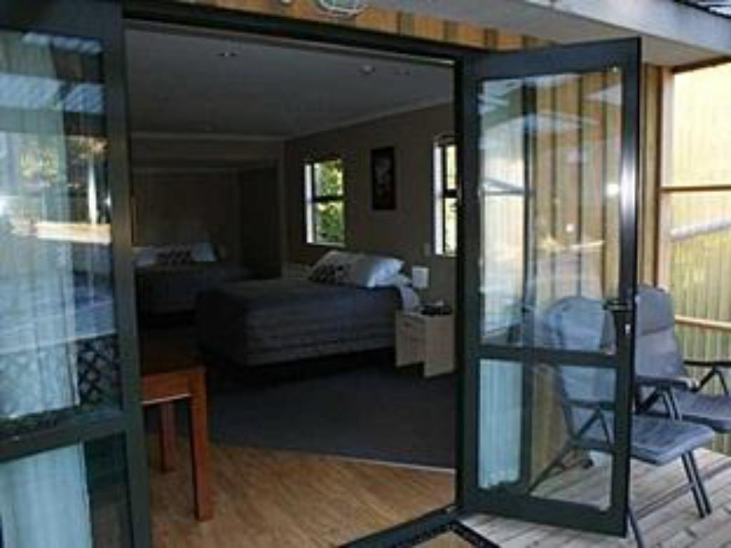 발코니/테라스 Kaka Retreat Motel Stewart Island