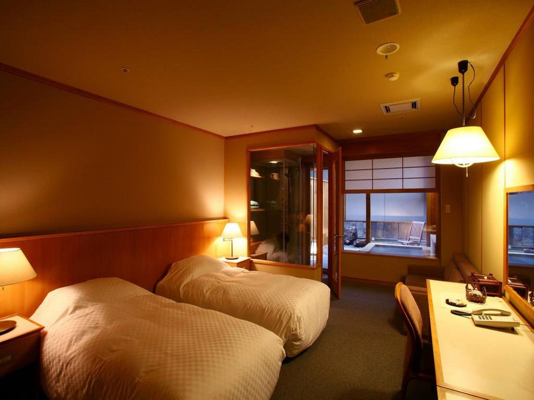 Japanese Western Style Room with Open-Air Bath - Adult Only