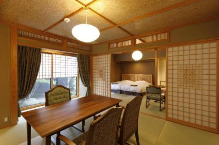 Main Building Japanese Style Room with Private Bathroom - Room plan Yufuin Souan Kosumosu
