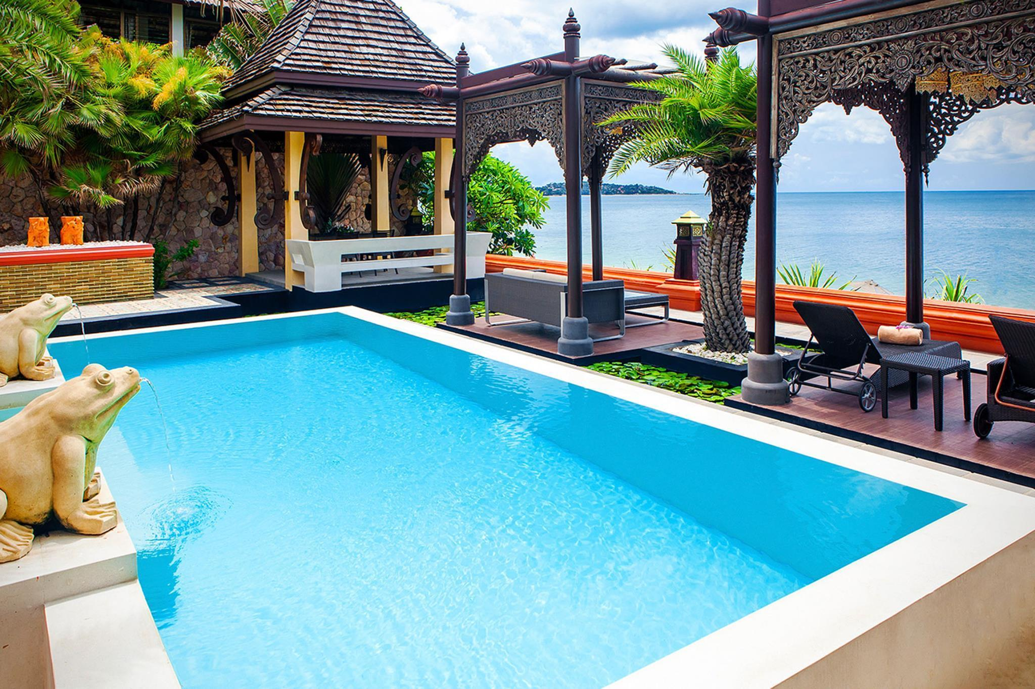 Villa mit Pool Meerblick (Beachfront Pool Villa)