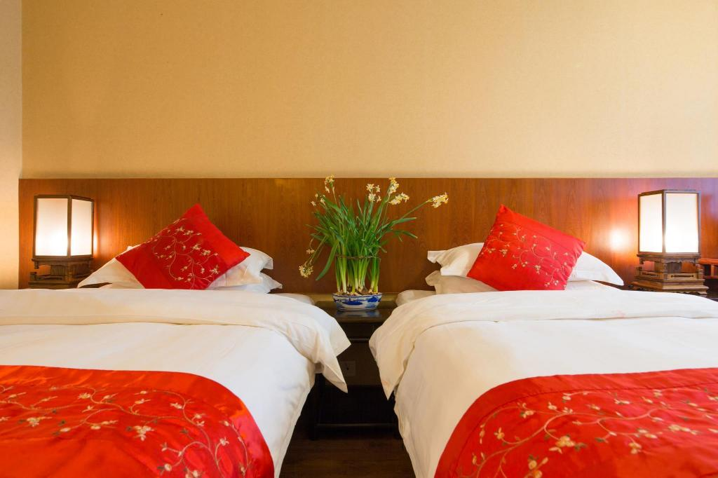 Twin - Bed Zen Garden Hotel Wuyi Yard
