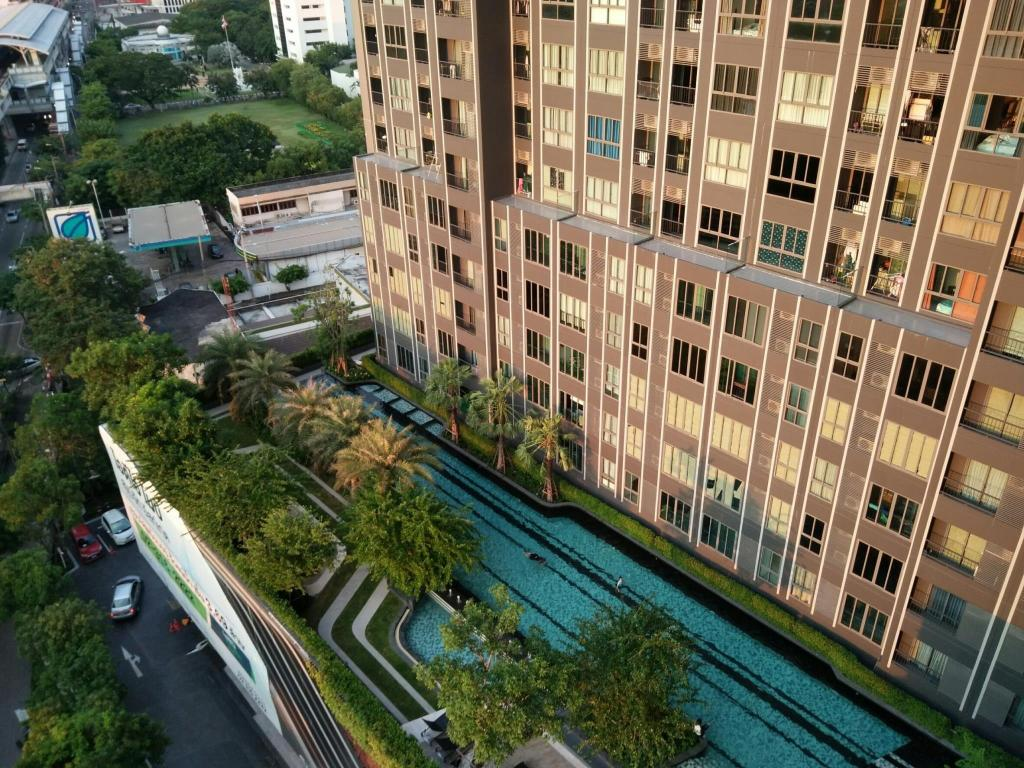 udendørs pool Sukhumvit New Room BTS Bangna City view Max 3
