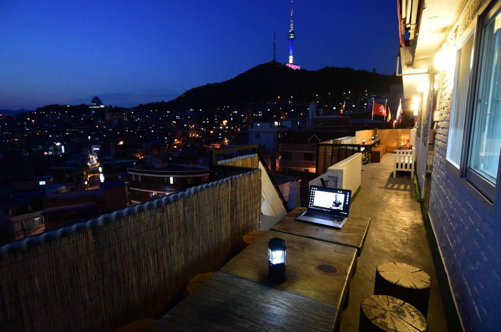Udsigt Namsan Photo Park Rooftop full house