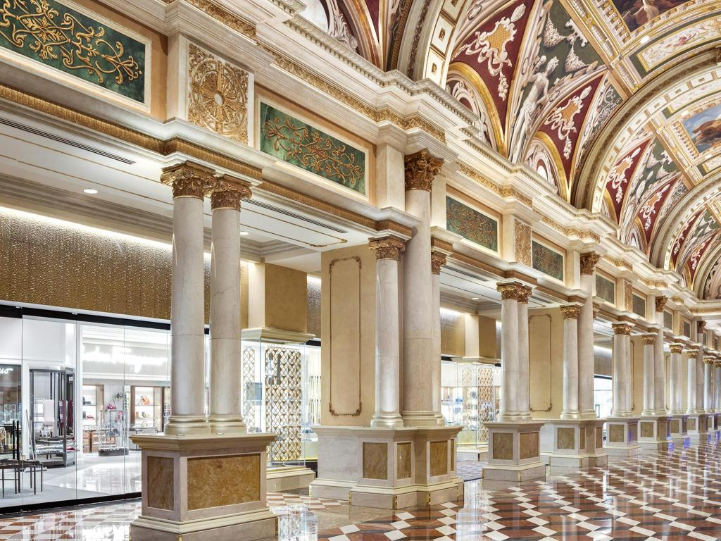 Interior view Venetian Resort Hotel Casino