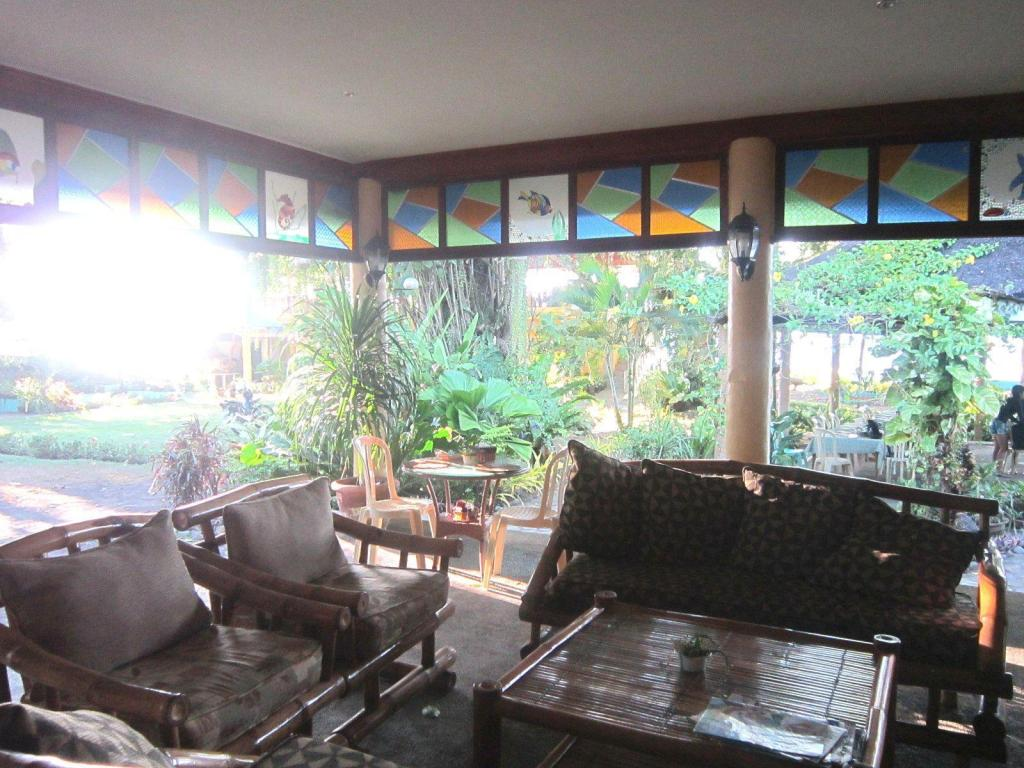 Interior view Camiguin Island Golden Sunset Beach Club