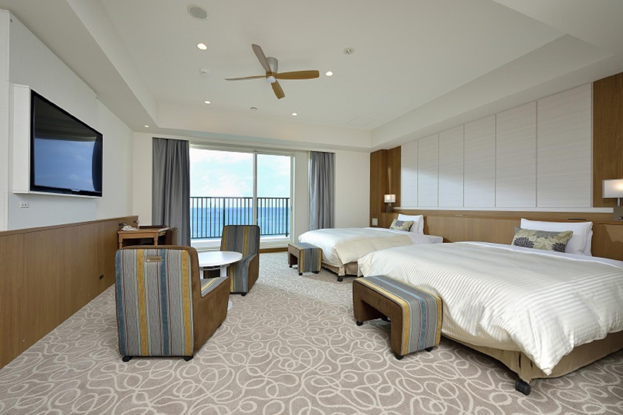 面海小型套房(2張單人床/分館) (Annex Building Oceanfront Junior Suite with 2 Single Beds)