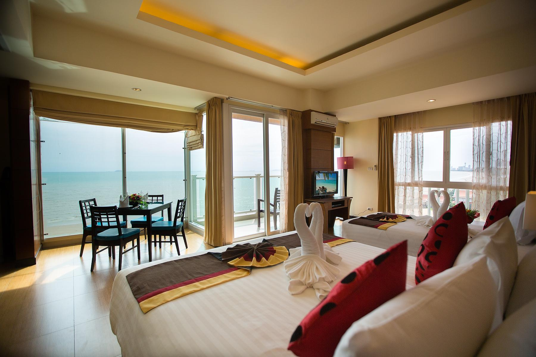 Beach sea view room