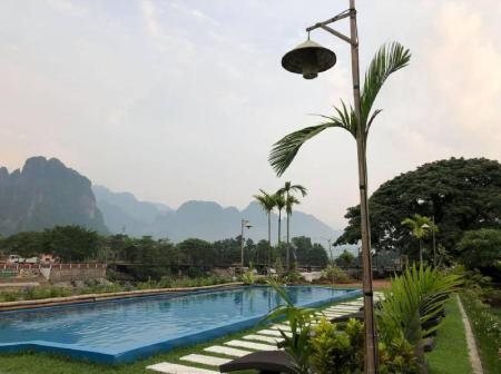 Swimming pool [outdoor] Villa Vang Vieng Riverside