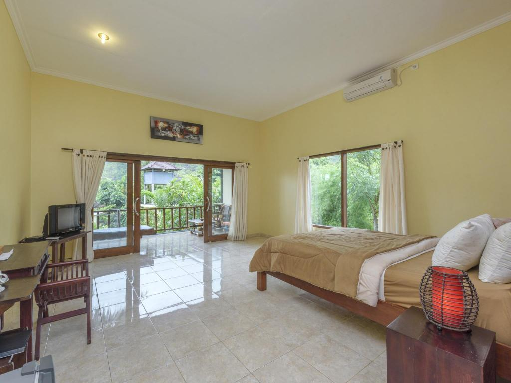 Standard Double Room - Room plan Bali Bhuana Beach Cottages