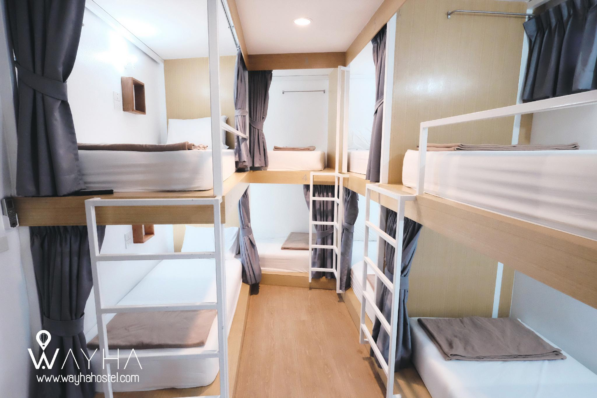 1 person i 8-sengs Sovesal med aircondition - Blandet (1 Person in 8-Bed Dormitory with Air Conditioning - Mixed)
