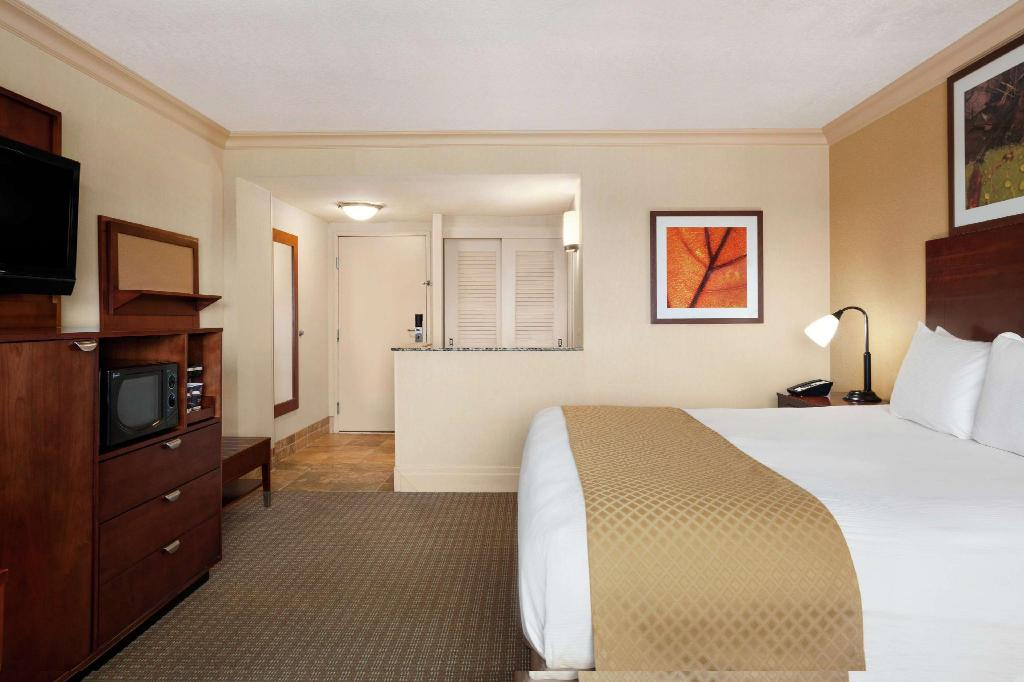 1 King Fridge Walk In Shower DoubleTree by Hilton Dallas Love Field