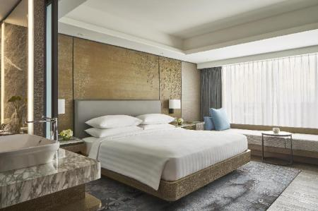 Deluxe, Guest room, 1 King, Sofa bed, City view - Room plan Yogyakarta Marriott Hotel