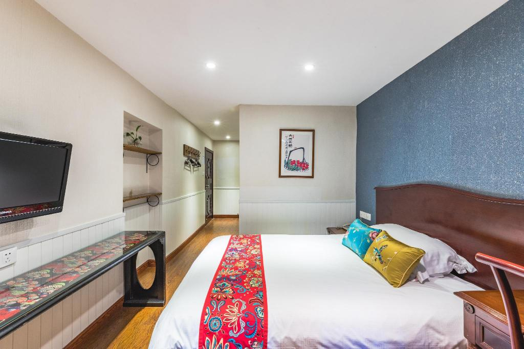 Superior Queen Bed - Room plan Chengdu Dreams Travel Wenjun Courtyard Hotel Kuanzhai Alley Branch