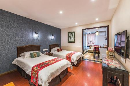 Chinese Style Twin Room - Bed Chengdu Dreams Travel Wenjun Courtyard Hotel Kuanzhai Alley Branch