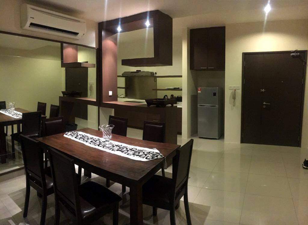 kitchen Condo Apartment @ Miri Waterfront