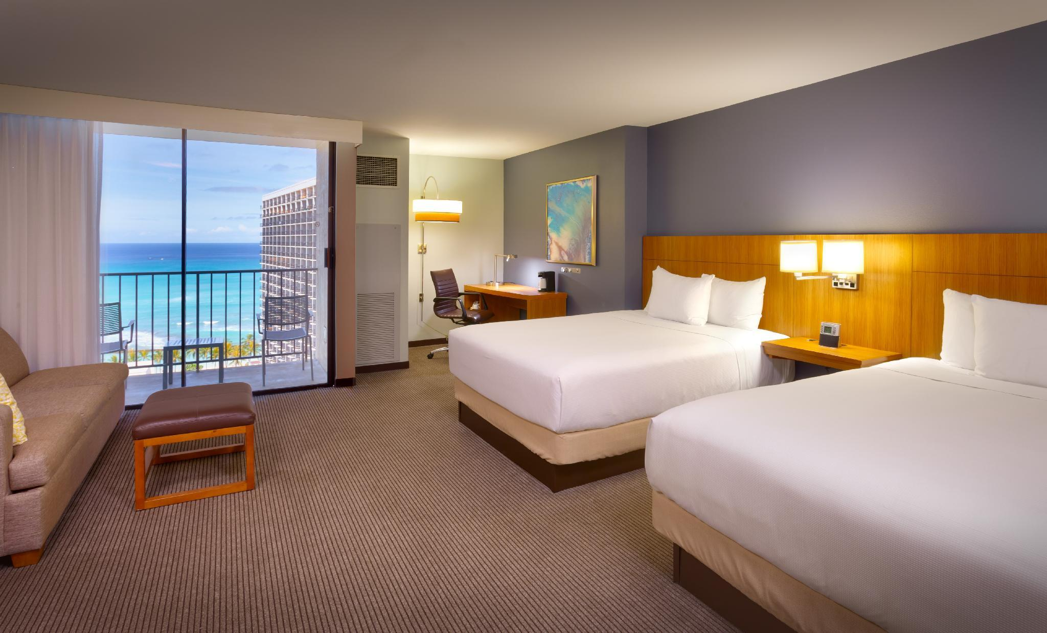 Specialty Queen Room with Two Queen Beds and Ocean View