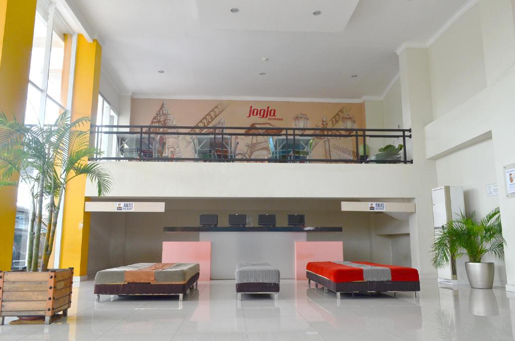 Lobi EDU Hostel Jogja