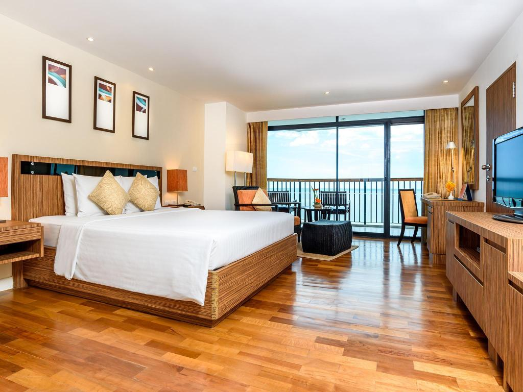 Deluxe Room Ocean View - Bed Novotel Hua Hin Cha Am Beach Resort & Spa