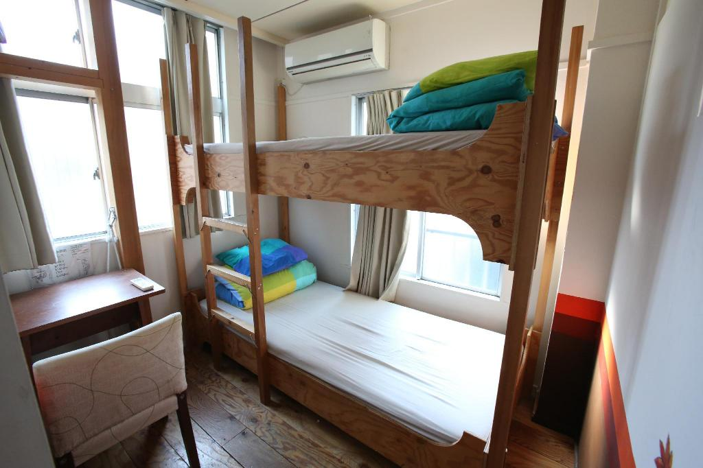 Deluxe Twin Room without Bath & WC (Momiji) - Guestroom YADOYA Guesthouse Green