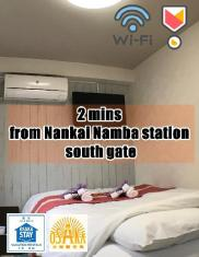 3 mins from Nankai Namba station (Namba area) 602