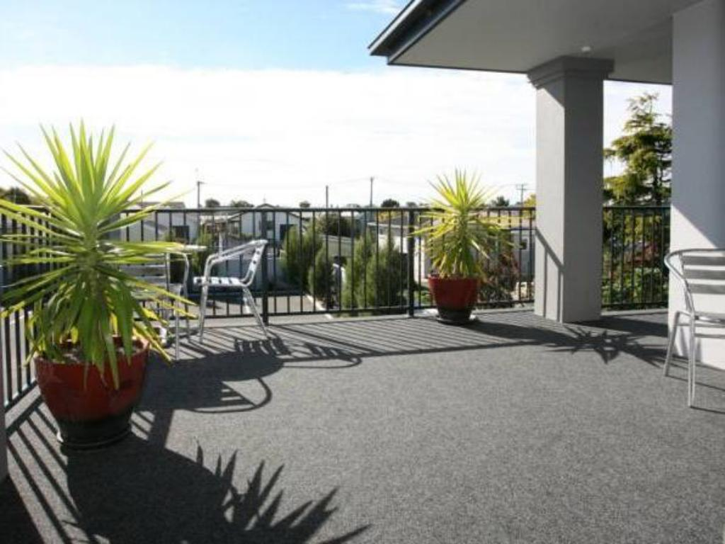 شرفة/ تراس أومارو موتور لودج (Oamaru Motor Lodge)