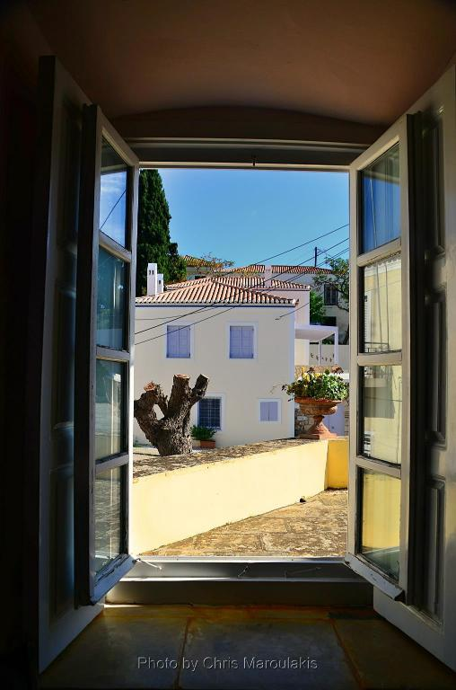 View from inside Villa Spetses by JJ hospitality