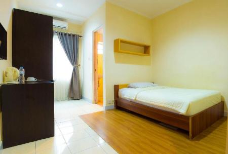 Single Standard - Denah kamar Lotus Bandung Hotel, Cafe, and Meeting Place