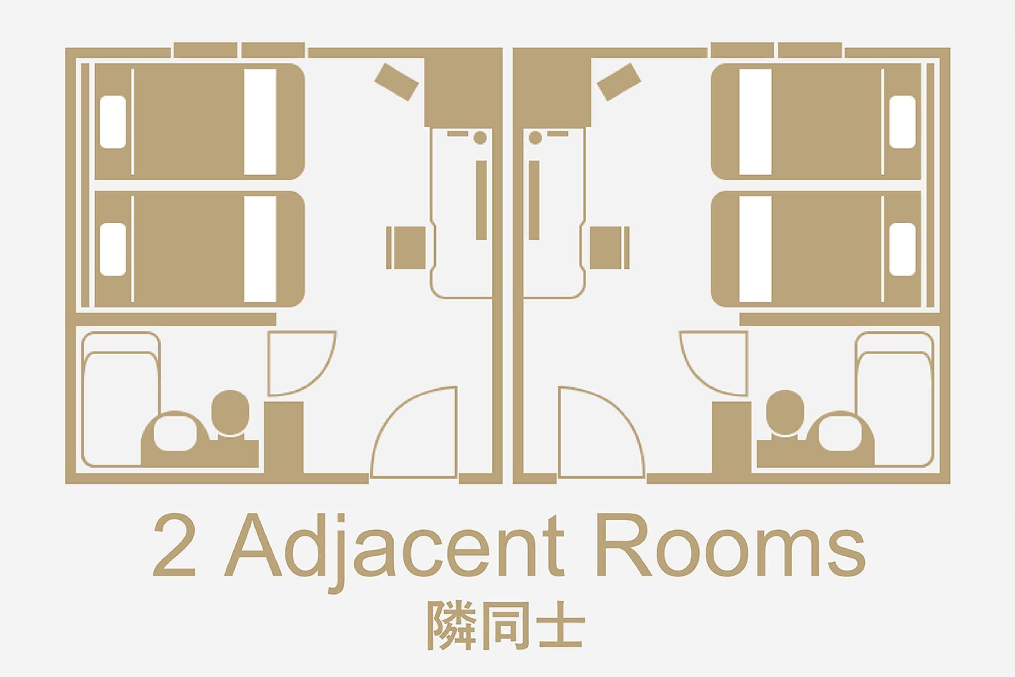Adjoining Twin Rooms