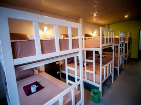 1 Person in 12-Bed Dormitory - Mixed, Upper Bunk Bed Baan Lanna Walking Street