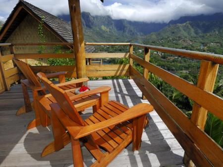 Balcony/terrace Hiva Oa Hanakee Pearl Lodge