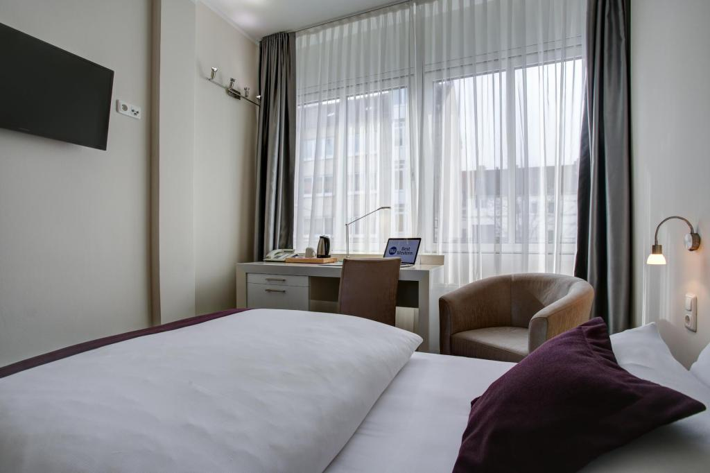 Standard Single - Denah kamar Best Western Hannover City