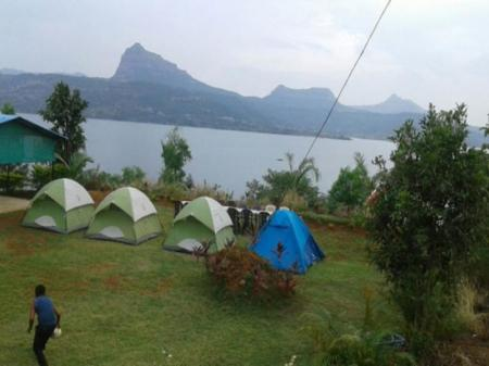 Exterior view Pavana Lake Tent House