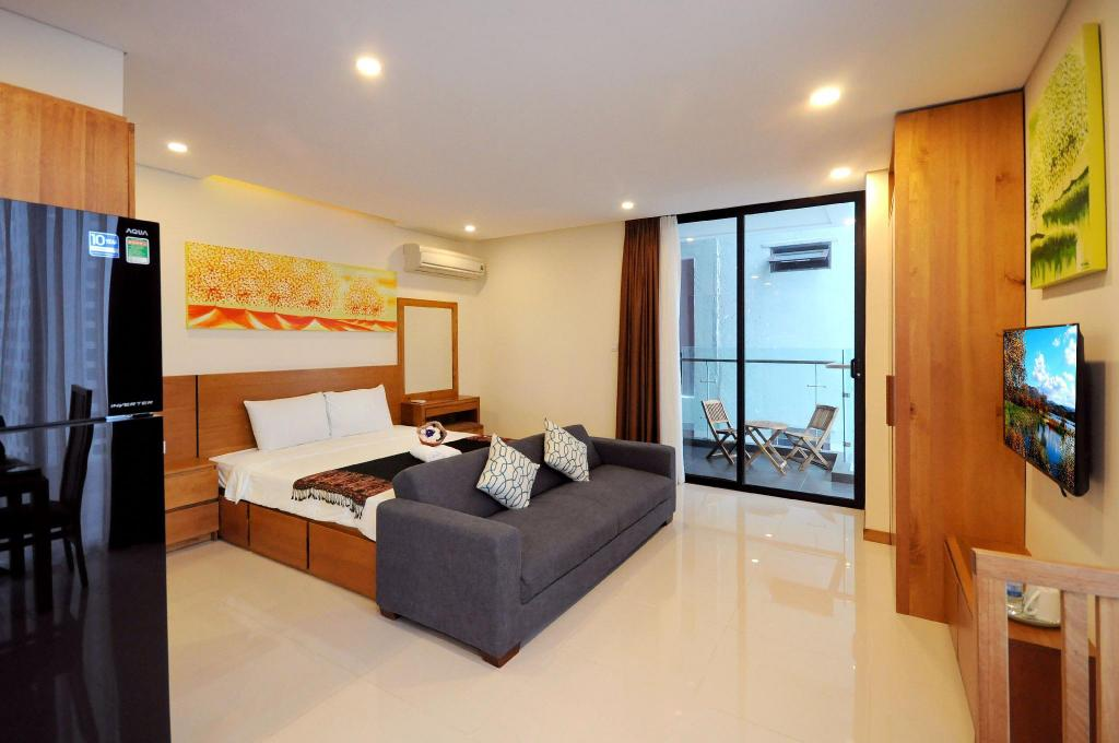 Studio with Balcony - View Holi Beach Hotel and Apartments