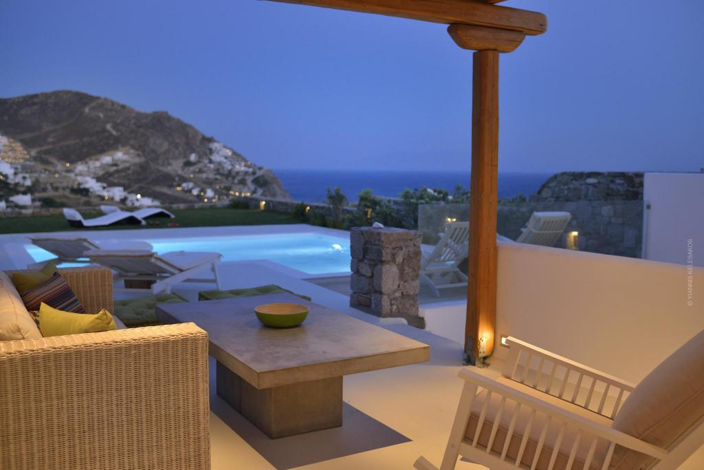 Lobby Luxury Villa Elia Mykonos (above the beach)