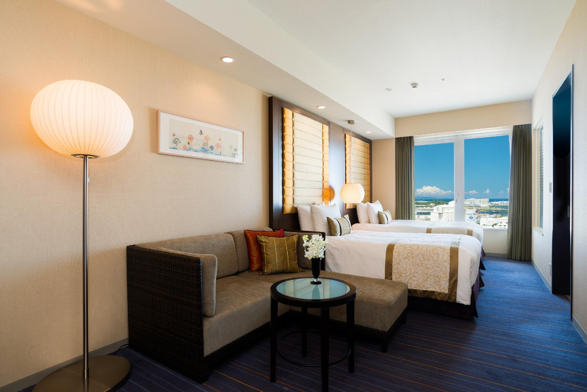 灣畔頂級房(兩床) - 限住1人/有景觀衛浴/禁菸 (Premier Bayside Twin Room for 1 Person with Bathroom with View - Non-Smoking)