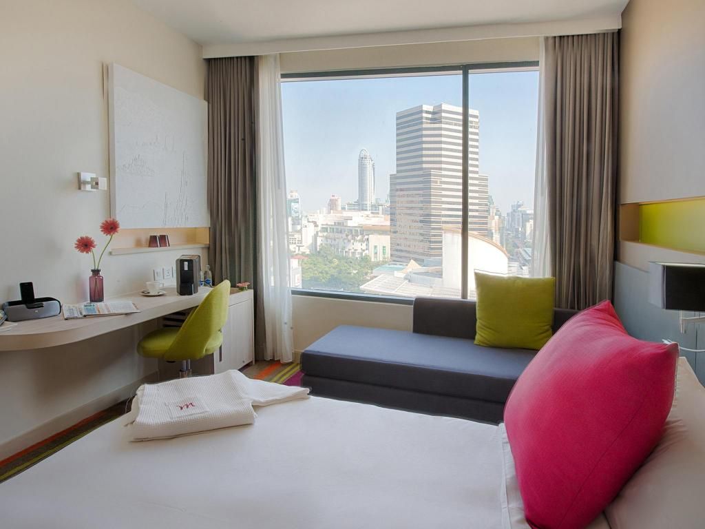 Executive Room 1 Queen Bed - Room plan Mercure Bangkok Siam Hotel