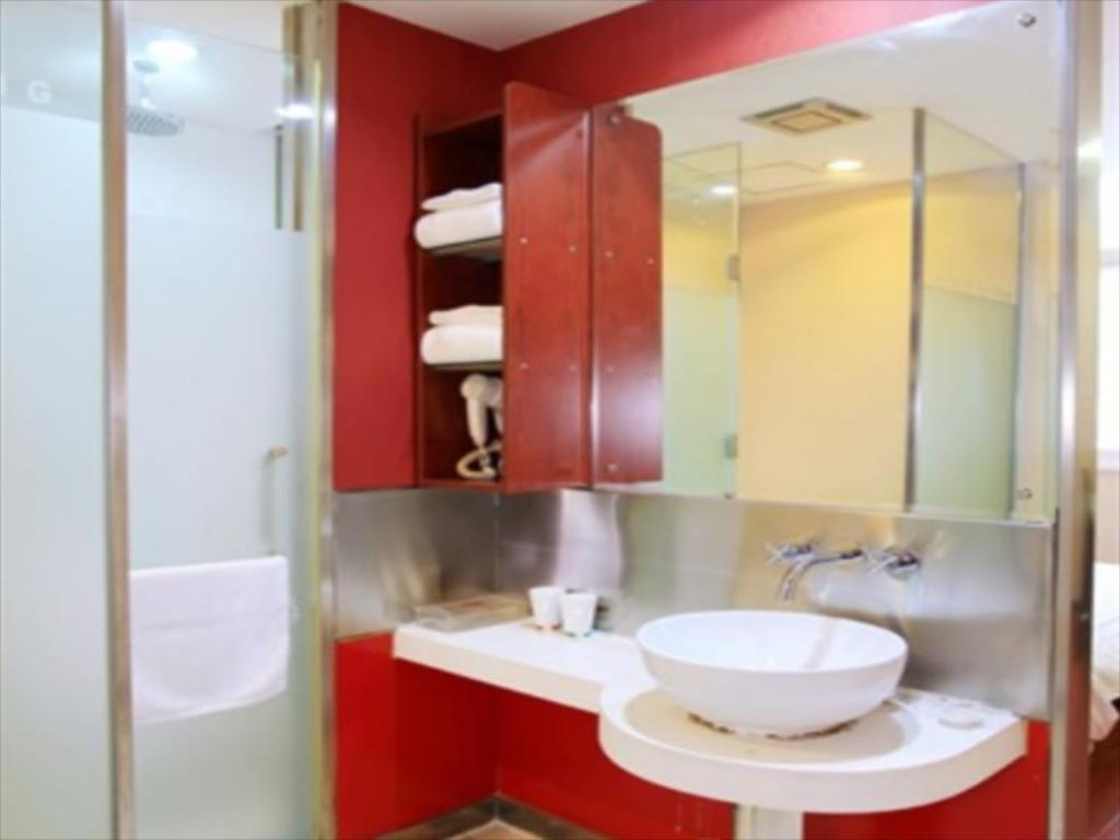 Bathroom Hanting Hotel Beijing Xizhimen Exhibition Center Branch